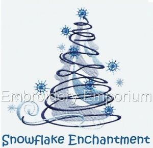 SNOWFLAKE ENCHANTMENT COLLECTION - MACHINE EMBROIDERY DESIGNS ON CD OR USB