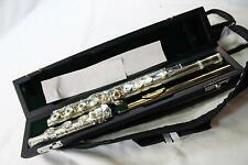Jupiter DiMedici 1011RBSO Carnegie XL Solid Silver Flute Offset G Gold Lip Plate