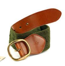 LEVI´S Cinturón de cuero 222460 green correa de cuero talla 75 cm (ANCHO 6 cm)