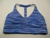 GAP FIT Women's Size S Padded Medium Impact Compression Blue T-Back Sports Bra