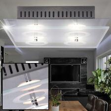 Design LED Decken Leuchte Wohn Ess Zimmer Lampe Strahler Glas Lampe Chrom WOFI