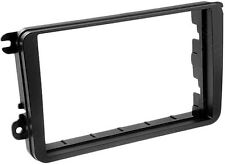 CT24VW04 VOLKSWAGEN POLO 2009 to 2013 BLACK DOUBLE DIN ISO FRAME FACIA ADAPTER