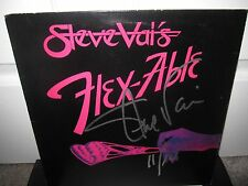 STEVE VAI SIGNED FLEXABLE ALBUM AUTOGRAPH DAVID LEE ROTH WHITESNAKE PROOF