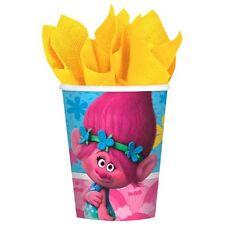 TROLLS 9oz PAPER CUPS (8) ~ Birthday Party Supplies Beverage Drinking DreamWorks