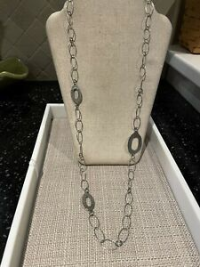 Silpada Sterling Silver Hammered Oval Link Necklace