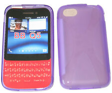 TPU Rubber Pattern Gel Soft Case Pouch Protector Cover PURPLE For Blackberry Q5