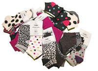 Lot de 12 paires chaussettes Socquettes imprimées Femme Fille TU 36-42 !