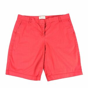 J.Crew Bermuda Shorts Size 10 Womens Red Vintage Wash Casual Modest Fit EUC