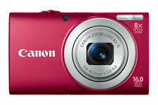 Canon PowerShot A4000 IS 16.0 Megapixels 8x Digital Camera, 720p HD Video - Red