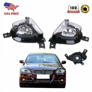 1 Pair Fog Lights Driving Lamps Cover For BMW 325i 3-Series E90 E91 2009-2011