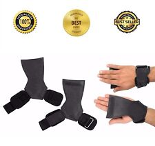 Weight Lifting Grips Training Gym Bar Straps Gloves Wrist Support Workout US