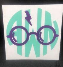 Personalized Monogram Vinyl Decal 3x3 Harry Potter