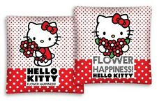 Hello Kitty Cushion Cover Flower Happiness Print On Two Sides 16x16in