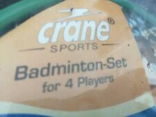 NEW Crane Badminton Set for 4-4x Rackets Weather Proof Net and Shuttles, Bag etc