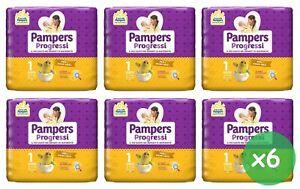 Pampers progressi 168 Pannolini newborn tg.1 (2-5 Kg) neonato 6 pacchi da 28 pz.