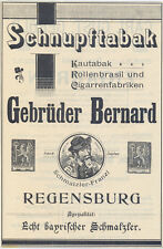 Regensburg  alte Werbung Schnupftabak Gebrüder Bernard 1907 advertising tobacco