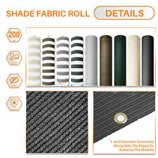 3 Ft 200GSM Privacy Fence Balcony Deck Screen Home Yard Shade Patio Isolation