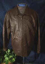 Very Nice Brown  A. JACOB COLLECTION Leather Jacket Sz M