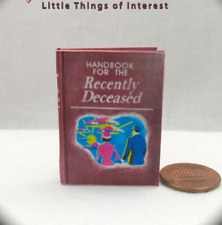 BEETLEJUICE HANDBOOK FOR THE RECENTLY DECEASED 1:6 Scale Readable Miniature Book