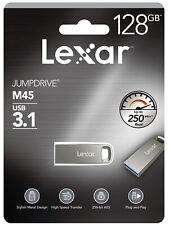 Lexar JumpDrive M45 128gb USB 3.1 Silver Casing