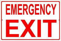 Emergency Exit Aluminum Metal Sign