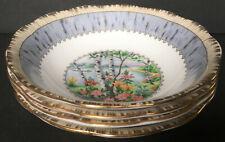 Set Of 4 Vintage Royal Albert Silver Birch Nappies Dessert Bowls B