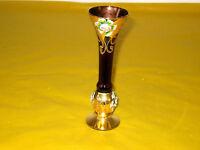 VINTAGE MURANO PURPLE/GOLD LUSTRE GLASS VASE, mint   (0.15/21A)