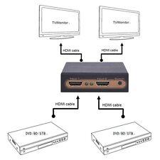 Hot 1080P HDMI Switch Splitter 2x2 4K 3D auto switch LPCM 7.1CH AC3