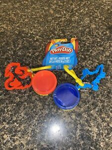 Hasbro 2018 Play-Doh Keychains/Backpack Clips w/ Dragon/Shark Cookie Cutters New