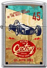 Zippo Retro 1945, Custom Chicago Motor Show, Poster Street Chrom NEU selten