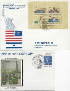WORLDWIDE - STATUE OF LIBERTY FIRST DAY COVERS #2 FDC