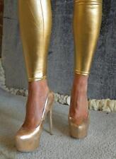 Vintage Steve Madden Sexy Unabashed Glamour Dejavu Gold High Heels Size 8.5-9