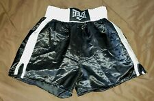 Everlast Custom Polyester Satin Glanz Shiny Boxing Trunks Shorts Large