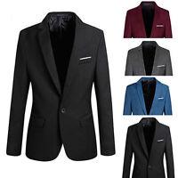 EG _ Cool pour homme fine habillé unique Costume un bouton veste blazer