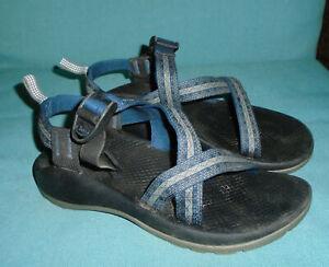 CHACO Sport Sandals NAVY BLUE Aztec Perfformance Water River Hiking Kids Sz 4