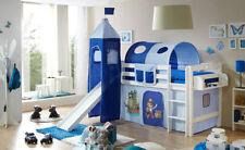 Weiße Bettgestelle ohne Matratze mit Piraten-Motiv für Kinder