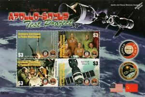 1975 APOLLO-SOYUZ Test Project Space Stamp Sheet (2006 Grenada)