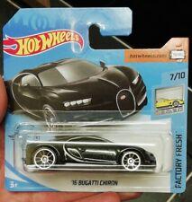 Hot wheels '16 BUGATTI CHIRON black 2020 short card