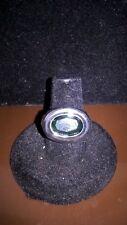 Stunning Oval Emerald Rhinestone Statement Ring, Fashion Jewelry, Size 7