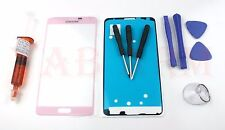 Samsung Galaxy Note 4 N910 PINK Replacement Front Screen Glass with Glue + Tools
