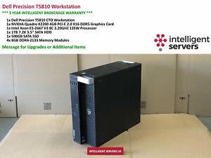Dell T5810 Workstation, E5-2667 V3 3.2GHz  32GB  500GB SSD  1TB HDD Quadro K2200