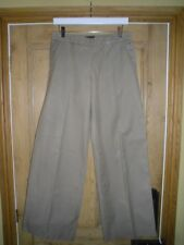 DESIGNER MULBERRY CARGO TROUSERS, SIZE 10, OATMEAL COLOUR, 100% COTTON, WIDE LEG