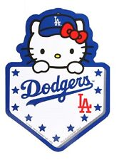 Sanrio Hello Kitty MLB : LA Dodgers Baseball Decal Sticker Home Plate