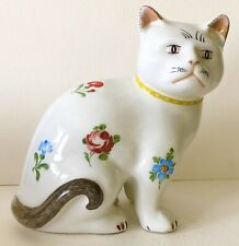 Vintage Metropolitan Museum of Art MMA CAT Kitten Porcelain Figurine HP Flowers