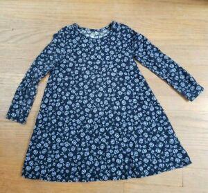gap girls 5t dress blue floral guc
