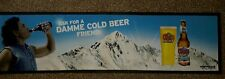 "COORS LIGHT LAGER RUBBER BACKED BAR RUNNER / DRIP MAT 35""x 9.5"" - NEW"