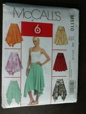 McCall's 5110 Misses' Skirt 6 Variations Flared Easy  Size 6-8-10;12 UNCUT