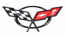 1997-04 Chevy Corvette GM Emblem Crossed Flags Fit Front Hood Or Rear Bumper C5