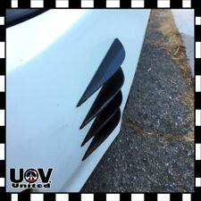 8PC Universal Carbon Fiber Front Bumper Lip Fins Splitters Diffuser Canards U2