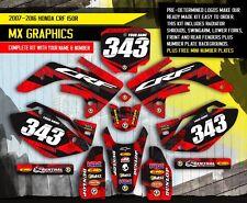 2007 - 2015 HONDA CRF 150R DIRT BIKE GRAPHICS KIT MOTOCROSS MX DECALS